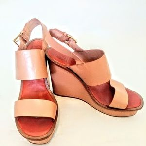 Tory Burch Leather Wedges